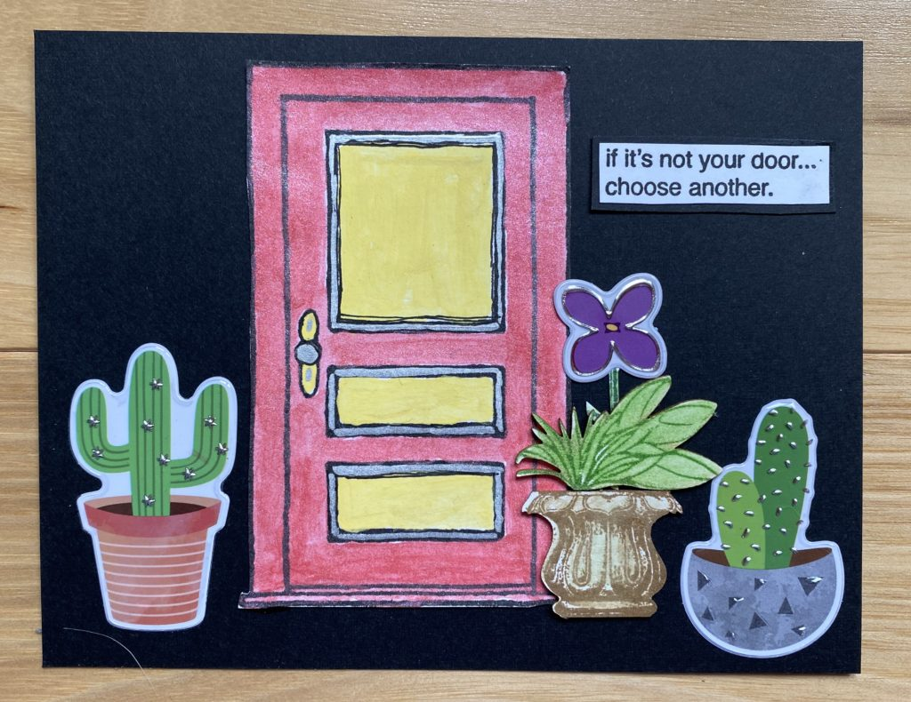 connie nichol front door art card