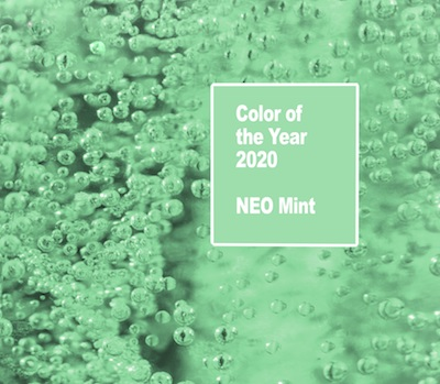 Neo Mint colour of the year 2020