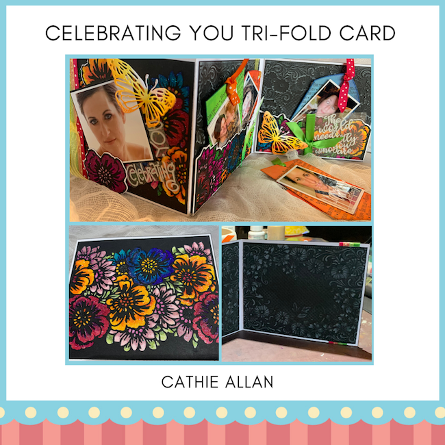 Cathie Allan Calgary Celebrating You Tri-fold card