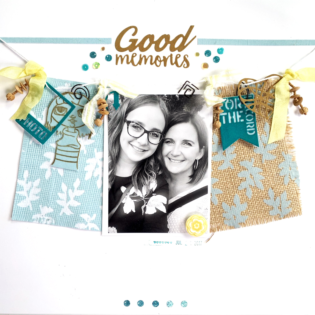 Kerry Engel Scrapbook Layout featuring Therm O Web