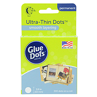 Glue Dots 3/8 inch Smooth Layer Dots