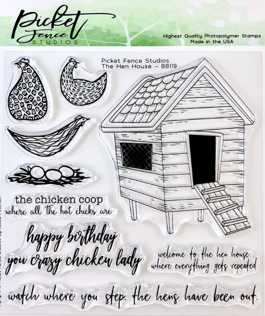 The Hen House Stamp Set by Picket Fence Studios