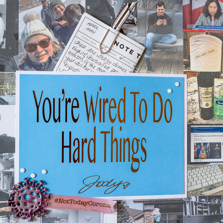 Scrapbooking layout / Dr. Jody Carrington postcard