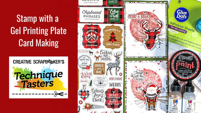 Stamping with a Gel Printing Plate – Card Making – Technique Tasters #234