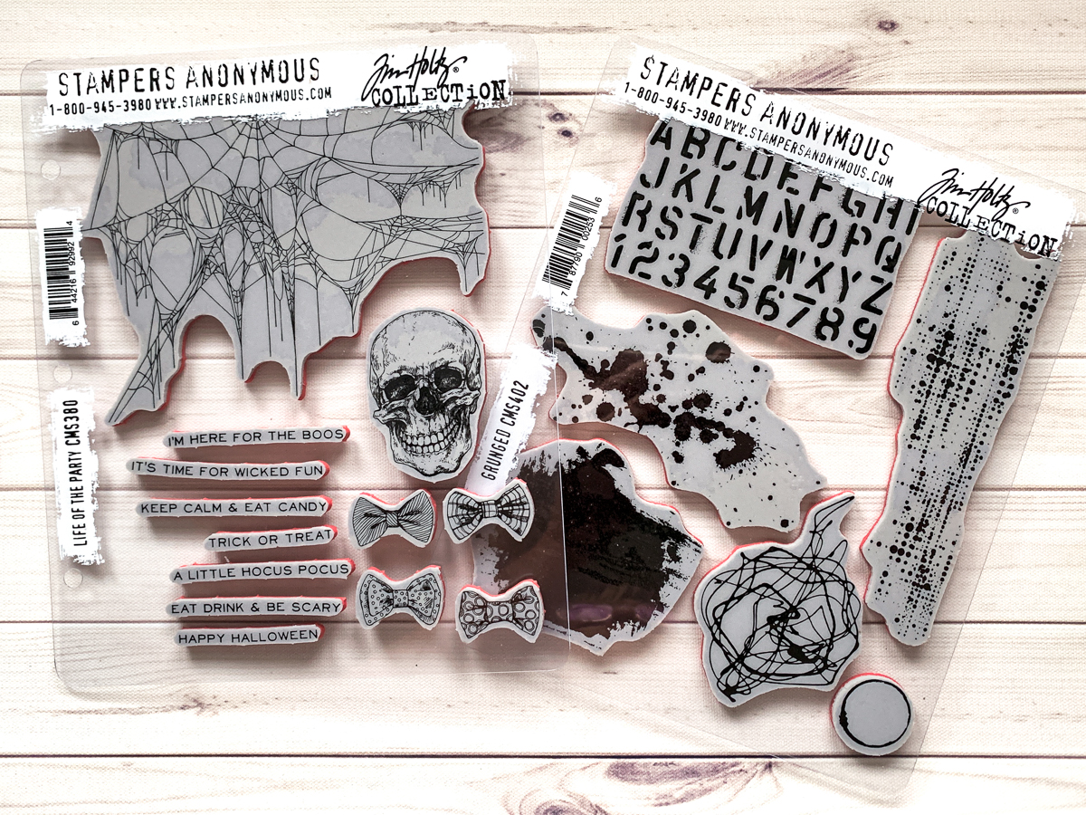 Stampers Anonymous Life of the Party / Ranger inks / Halloween Card by Kim Gowdy