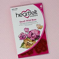Heartfelt Creations Small Wild Rose Stamp Set