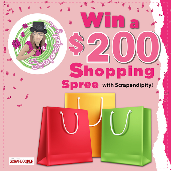 Win a $200 shopping spree with Scrapendipity