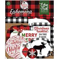 Echo Park Paper Co. Lumberjack Christmas Die Cut Cardstock Pieces