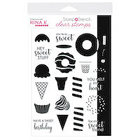 Therm O Web Rina K. Designs Electro-Pop Stamp n Stencil Stamp Set