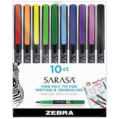 Zebra Sarasa Fine Felt Tip Pens