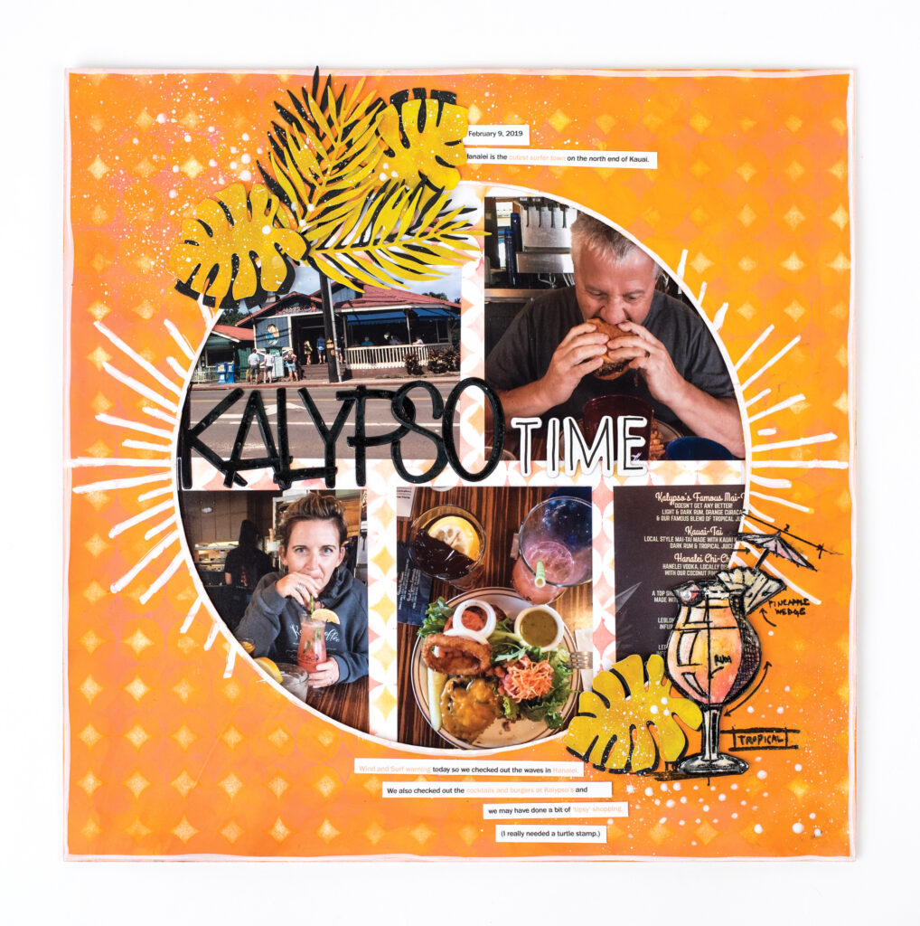 Kerry Engel - Stampers Anonymous Scrapbook Layout