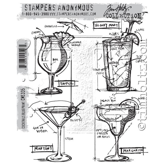 Cocktails Blueprint Stamp Set