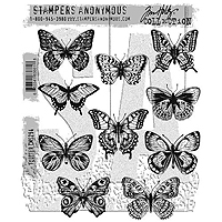 Stampers Anonymous Tim Holtz Flutter Stamps