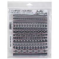 Stampers Anonymous Tim Holtz Ornate Trim Stamps