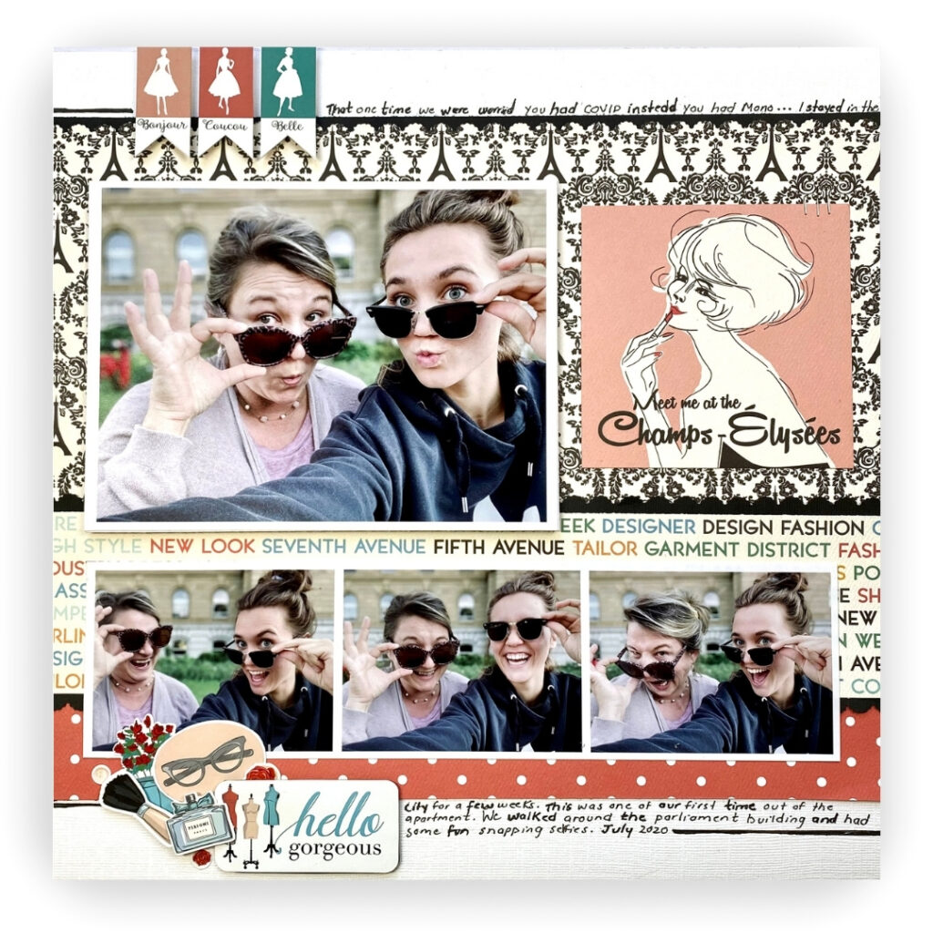 Carta Bella En Vogue - Scrapbook Layout - Creative Scrapbooker Magazine - Jackie Ludlage