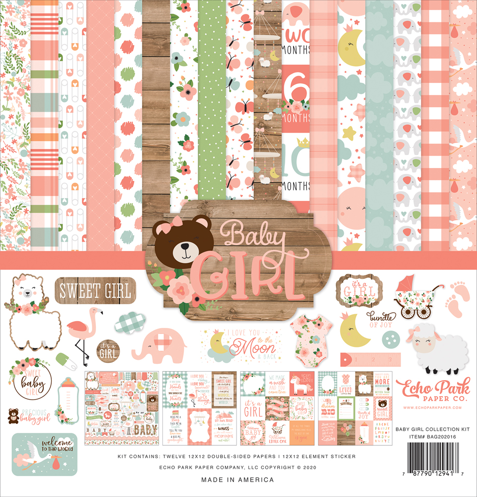 Echo Park Paper Co. Baby Girl Collection