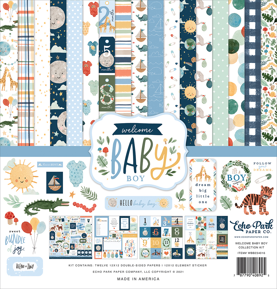 Welcome Baby Boy Collection - Echo Park Paper Co. - Creative Scrapbooker Magazine