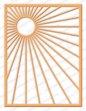Impression Obsession Sunburst Background Die