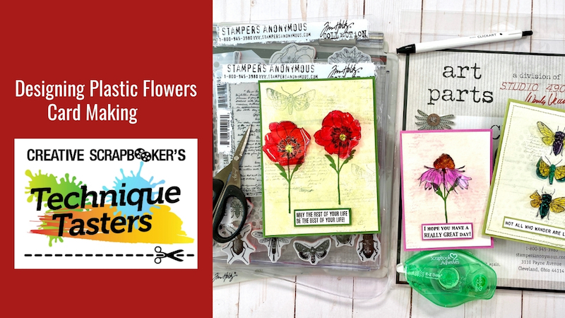 Designing Plastic Flowers – Card Making – Technique Tasters #249