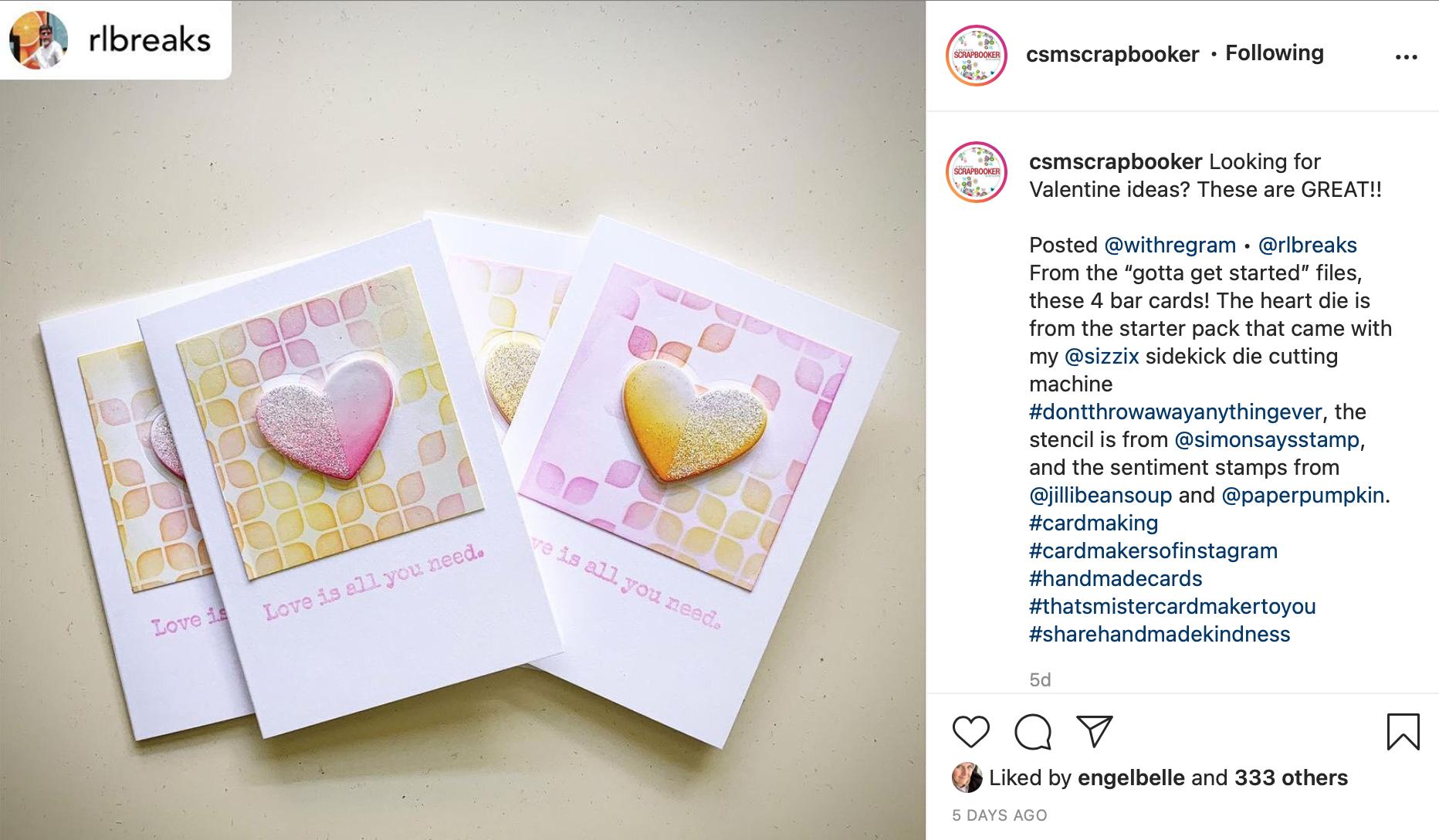 Creative Scrapbooker Magazine / Instagram / inspiration
