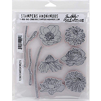 Stampers Anonymous Tim Holtz Flower Garden Stamp Set