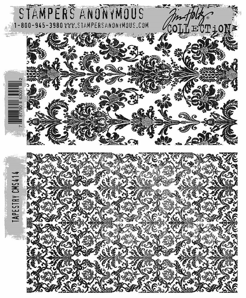 Stampers Anonymous Tim Holtz Tapestry Stamp Set