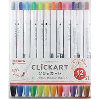 Zebra Pen ClickArt Retractable Marker Pen