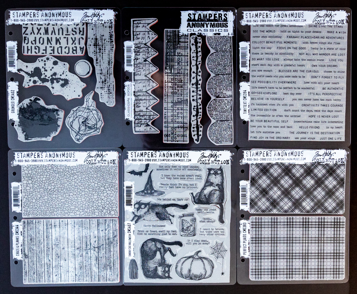 Stampers Anonymous stamps / scrapbooking layout
