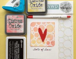 Valentine / Ranger Distress Oxides / Zebra Pens / NWD stencil