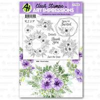 Art Impressions Floral Invites Stamp Set