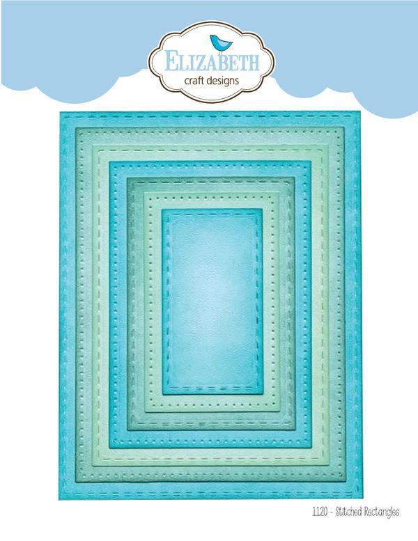 Elizabeth Craft Designs Stitched Rectangles Die Set
