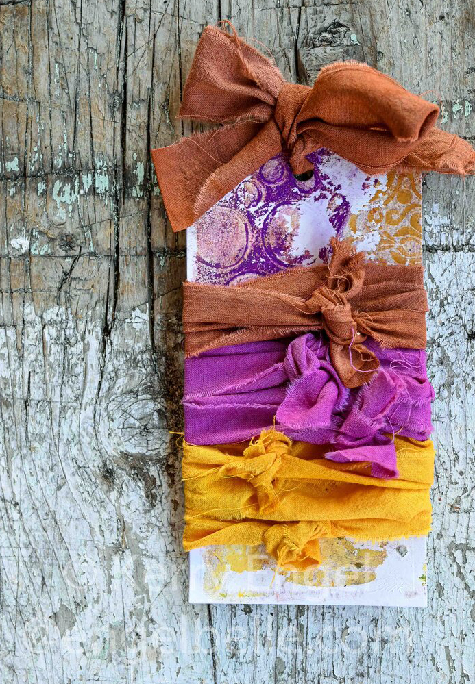 Engelbelle hand-dyed muslin fabric