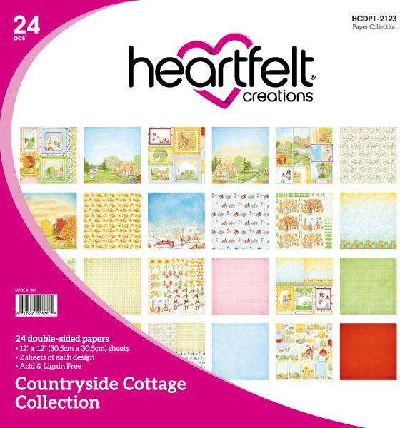 Heartfelt Creations Countryside Cottage Patterned Paper