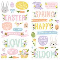 Simple Stories Bunnies & Blooms Foam Stickers