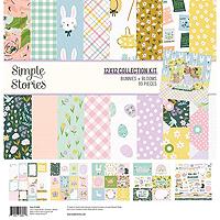 Simple Stories Bunnies & Blooms Patterned Paper