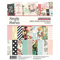 Simple Stories Simple Vintage Cottage Fields  6X8 Pad