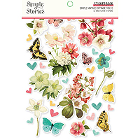 Simple Stories Simple Vintage Cottage Sticker Book