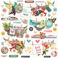 Simple Stories Simple Vintage Cottage Fields Banner Stickers