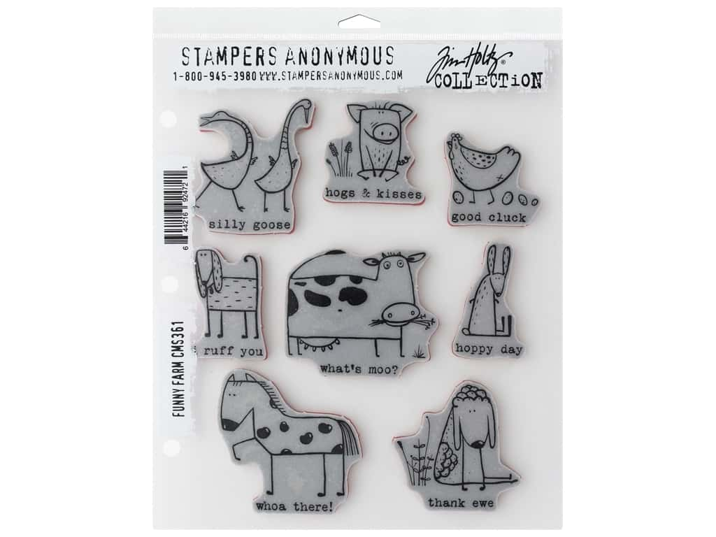 Stampers Anonymous Tim Holtz Funny Farm Stamp Set