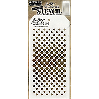 Stampers Anonymous Tim Holtz Layering Stencil – Gradient Dot