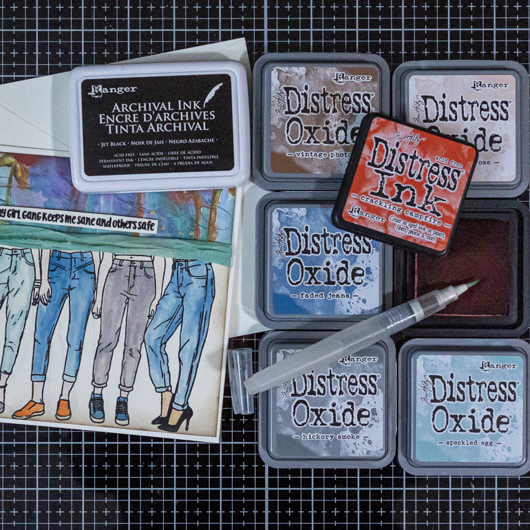 Ranger Distress Oxide Inks for water colouring