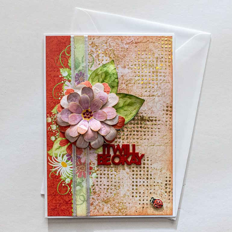 It Will be Okay card designed by Kim Gowdy using Heartfelt Creations Summer Garden collection