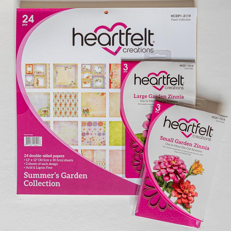 Heartfelt Creations Summer Garden collection / cardmaking