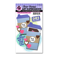 Art Impressions Coffee Gift Card Holder Stamp and Die Set