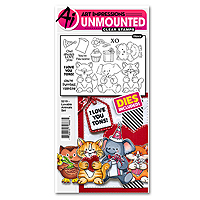 Art Impressions Loveable Animals Stamp and Die Set