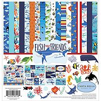 Carta Bella Paper – Echo Park Paper - Fish Are Friends Patterned Paper and Stickers