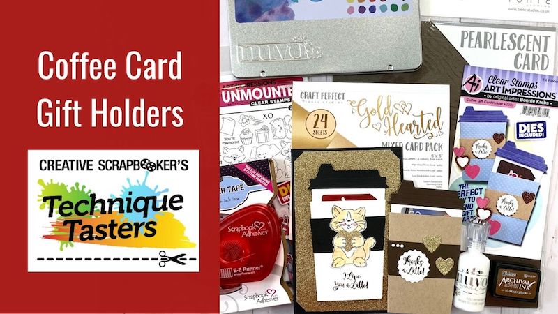 Coffee Gift Card Holders - Technique Tasters #257