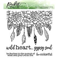 Picket Fence Studios Wild Heart Gypsy Soul Stamp Set