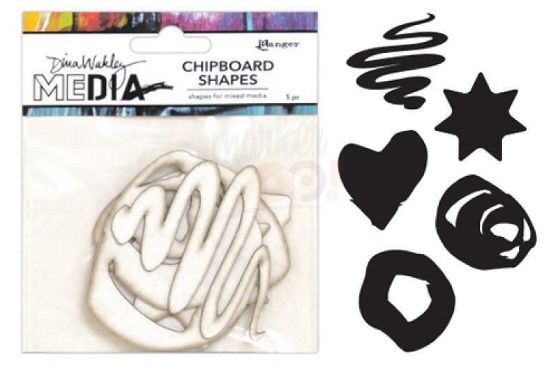 RAnger Dina Wakley Media Chipboard Shapes - Basics