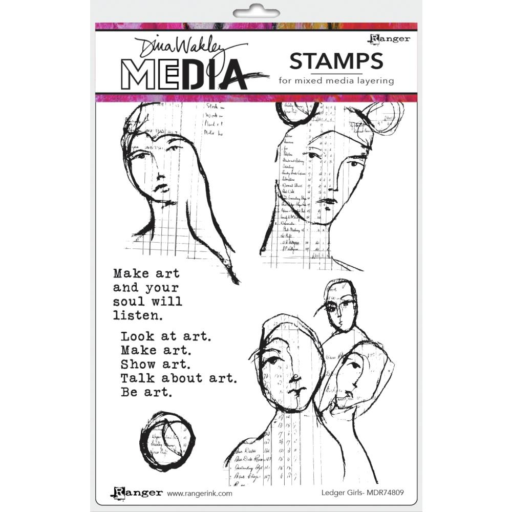 Ranger Dina Wakley Ledger Girls Stamp Set